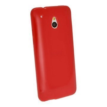 HTC One Mini iGadgitz Crystal TPU Case Red