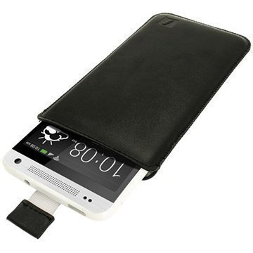 HTC One Mini iGadgitz Leather Case Black