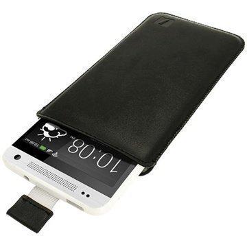 HTC One Mini iGadgitz Leather Case Black