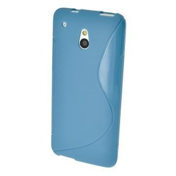 HTC One Mini iGadgitz S Line TPU Case Blue