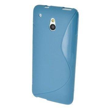 HTC One Mini iGadgitz S Line TPU Case Blue