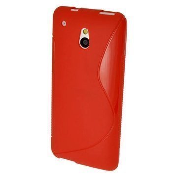 HTC One Mini iGadgitz S Line TPU Case Red