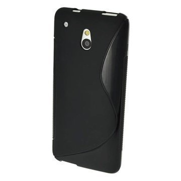 HTC One Mini iGadgitz S Line TPU Kotelo Musta