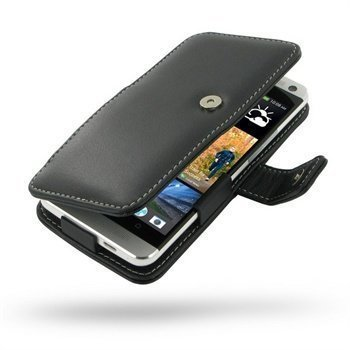 HTC One PDair Leather Case 3BHTE8B41d Musta