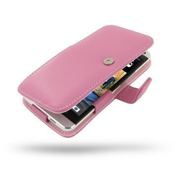 HTC One PDair Leather Case 3JHTE8B41 Vaaleanpunainen