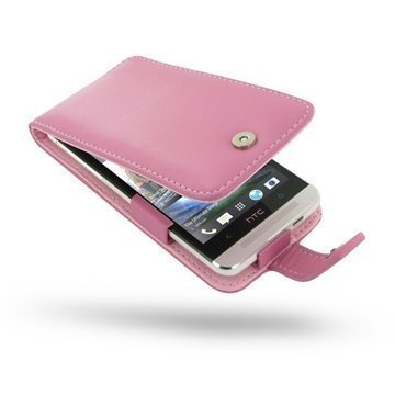 HTC One PDair Leather Case 3JHTE8F41 Vaaleanpunainen