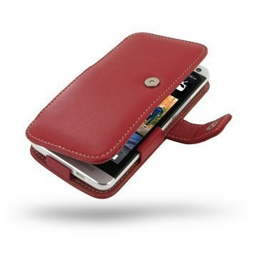HTC One PDair Leather Case 3RHTE8B41 Punainen