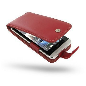 HTC One PDair Leather Case 3RHTE8F41 Punainen