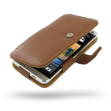 HTC One PDair Leather Case 3THTE8B41 Ruskea