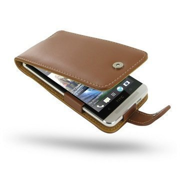 HTC One PDair Leather Case 3THTE8F41 Ruskea