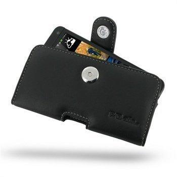 HTC One PDair Vaakakotelo Nahka Musta