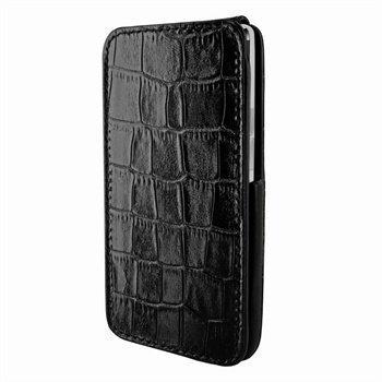 HTC One Piel Frama iMagnum Nahkakotelo Krokotiili Musta