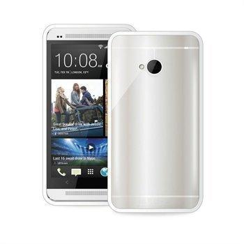 HTC One Puro TPU-Suojakotelo Selkeä / Valkoinen