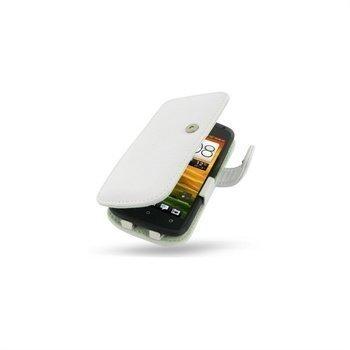 HTC One S PDair Nahkakotelo Valkoinen