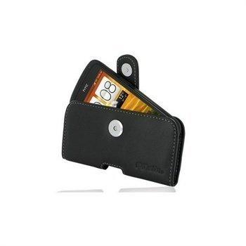 HTC One S PDair Vaakakotelo Nahka Musta