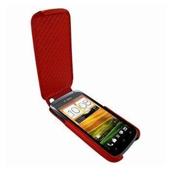 HTC One S Piel Frama iMagnum Nahkakotelo Punainen