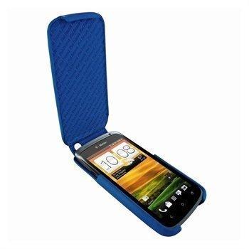 HTC One S Piel Frama iMagnum Nahkakotelo Sininen