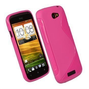 HTC One S iGadgitz Dual Tone TPU Cover Hot Pink