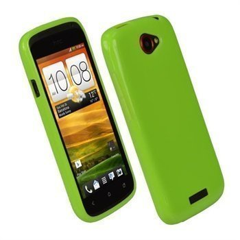 HTC One S iGadgitz Glossy Durable TPU Cover Green