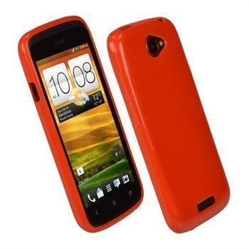 HTC One S iGadgitz Glossy Durable TPU Cover Red