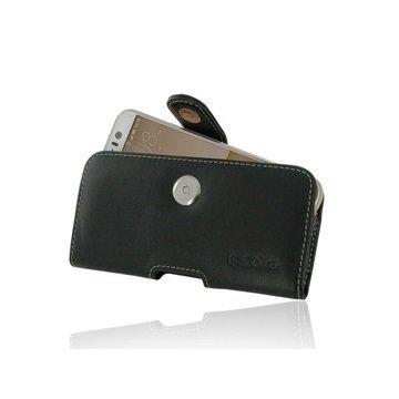 HTC One S9 PDair Vaakasuuntainen Nahkakotelo Musta