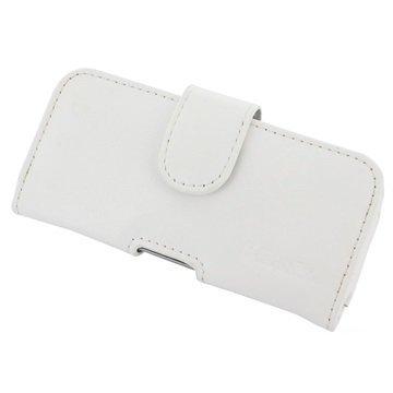 HTC One S9 PDair Vaakasuuntainen Nahkakotelo Valkoinen