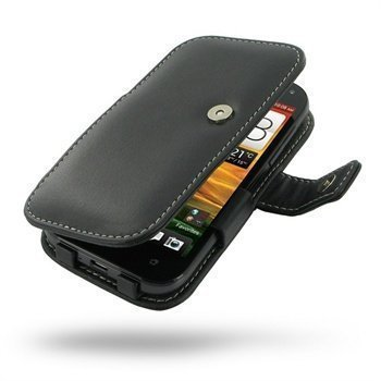 HTC One SV PDair Leather Case 3BHTC5B41 Musta
