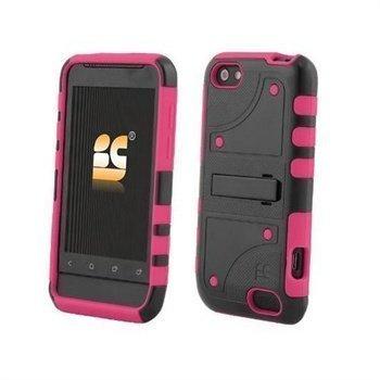HTC One V Beyond Cell Duo Shield Hybrid Suojakuori Kuuma Pinkki / Musta
