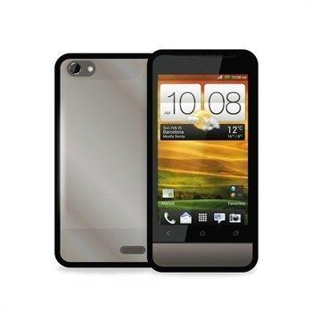 HTC One V Puro Click-On Kotelo Kirkas / Musta