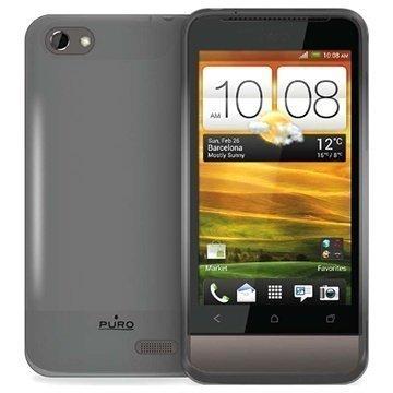 HTC One V Puro Silikonikuori Musta