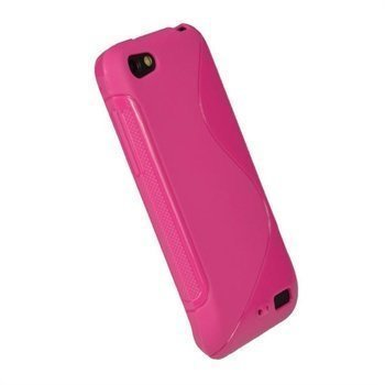 HTC One V iGadgitz Dual Tone TPU-Napsautuskuori Kuuma Pinkki