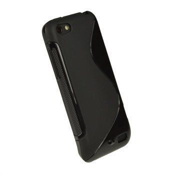 HTC One V iGadgitz Dual Tone TPU-Napsautuskuori Musta