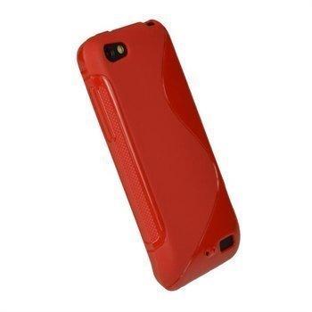 HTC One V iGadgitz Dual Tone TPU-Napsautuskuori Punainen