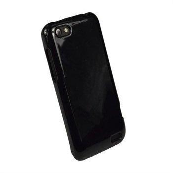HTC One V iGadgitz Glossy Durable TPU-Napsautuskuori Musta