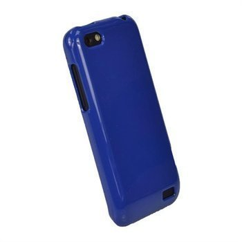 HTC One V iGadgitz Glossy Durable TPU-Napsautuskuori Sininen