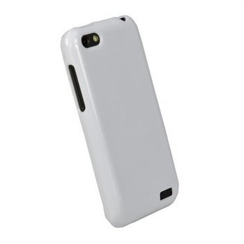 HTC One V iGadgitz Glossy Durable TPU-Napsautuskuori Valkoinen
