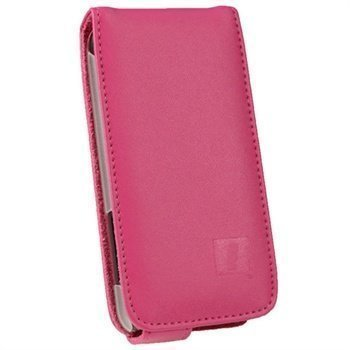 HTC One V iGadgitz Leather Flip Case Pink