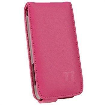 HTC One V iGadgitz Leather Flip Case Pink