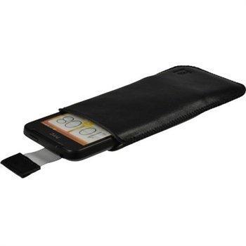 HTC One V iGadgitz Nahkakotelo Musta