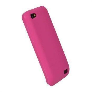 HTC One V iGadgitz Silikonisuojus Kuuma Pinkki