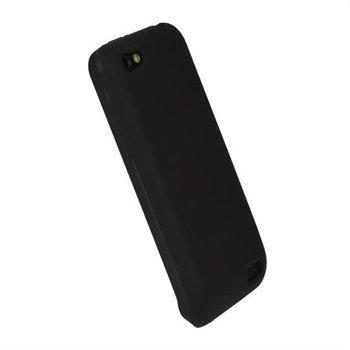 HTC One V iGadgitz Silikonisuojus Musta