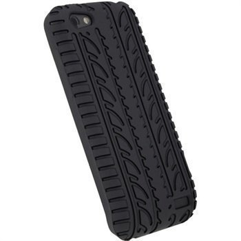 HTC One V iGadgitz Tyre Tread Design Silicone Case Black