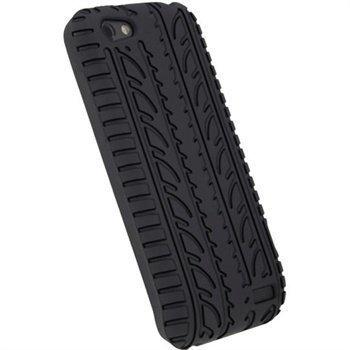 HTC One V iGadgitz Tyre Tread Design Silicone Case Black