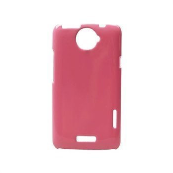 HTC One X One X+ Konkis Shiny Back Cover Pink
