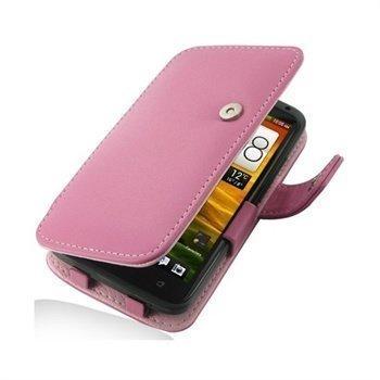 HTC One X One X+ PDair Leather Case 3JHTNXB41 Vaaleanpunainen