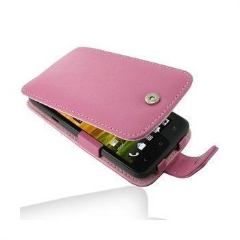 HTC One X One X+ PDair Leather Case 3JHTNXF41 Vaaleanpunainen