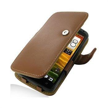 HTC One X One X+ PDair Leather Case 3THTNXB41 Ruskea