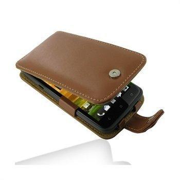 HTC One X One X+ PDair Leather Case 3THTNXF41 Ruskea
