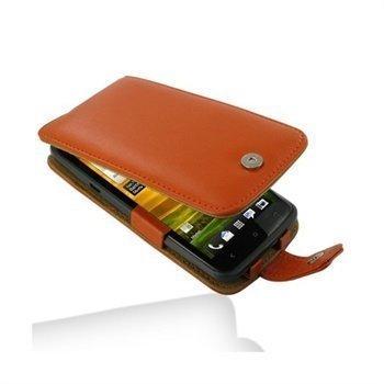 HTC One X One X+ PDair Nahkakotelo Oranssi