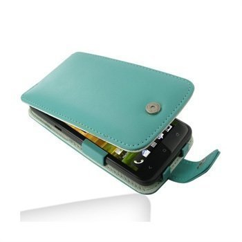 HTC One X One X+ PDair Nahkakotelo Turkoosi